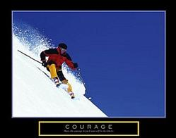 Courage Skier Poster 28x22