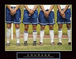 Courage Soccer Poster 28x22