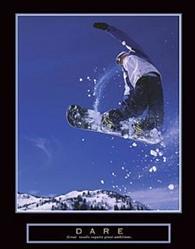 Dare Snowboarder Poster 22x28