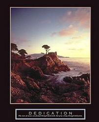 Dedication Lone Cypress Poster 22x28