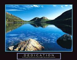Dedication Jordan Pond Poster 28x22