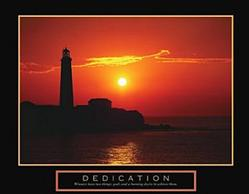 Dedication Lighthouse Poster 28x22
