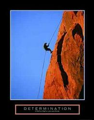 Determination Climber Poster 22x28