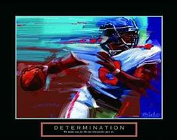 Determination Football Poster 28x22