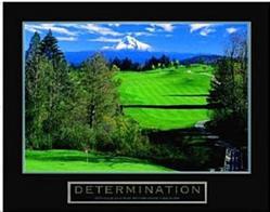 Determination Golf Poster 28x22