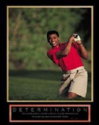 Determination Golfer Poster 22x28
