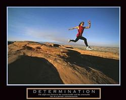 Determination Runner Poster 28x22