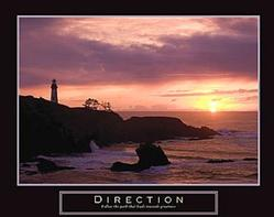 Direction Lighthouse Poster 28x22