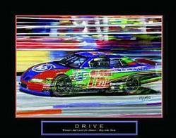Drive NASCAR Poster 28x22