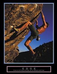 Edge Rock Climber Poster 22x28