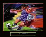 Effort Girls Soccer Poster 28x22