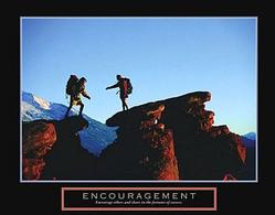 Encourage Rock Climbers Poster 28x22