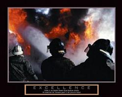 Excellence Firemen Poster 28x22