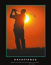 Excellence Golfer Poster 22x28