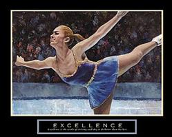 Excellence Ice Skater Poster 28x22