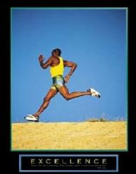 Excellence Runner Poster 22x28