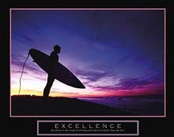 Excellence Surfer Poster 28x22