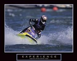 Experience Jet Skiing Poster 28x22
