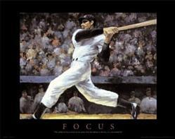 Focus Baseball Poster 28x22