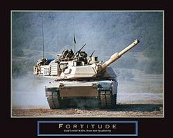 Fortitude Tank on the Move Poster 28x22