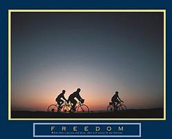 Freedom Biking Poster 28x22