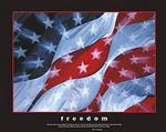 Freedom American Flag Poster 28x22