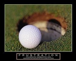 Frustration Golf Poster 28x22