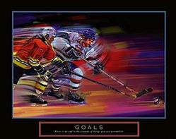 Goals Hockey Poster 2 28x22