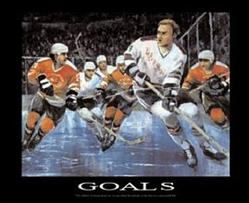 Goals Hockey Poster 1 28x22