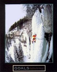 Goals Ice Climber Poster 22x28
