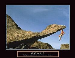 Goals Rock Climber Poster 28x22