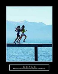 Goals Running Poster 22x28