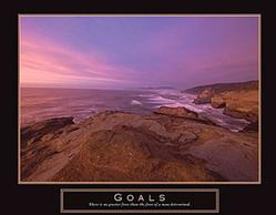 Goals Sunset Poster 28x22