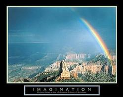 Imagination Rainbow Poster 28x22