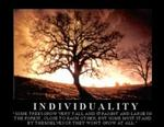 Individuality Tree Poster 28x22