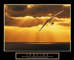 Inspire Hang Gliding Poster 28x22