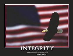 Integrity Bald Eagle Poster 20x16