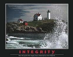 Integrity Lighthouse Poster 28x22