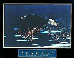 Leaders Bald Eagle Poster 28x22
