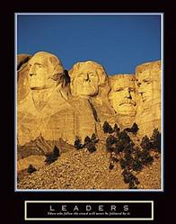 Leaders Mount Rushmore Poster 22x28