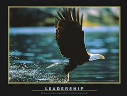 Leadership Bald Eagle Poster 28x22