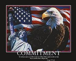 Commitment Eagle Poster 20x16