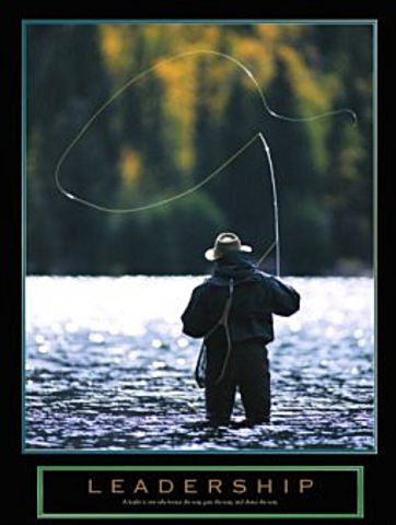 Leadership fly fishing poster 22x28 for Fly fishing posters