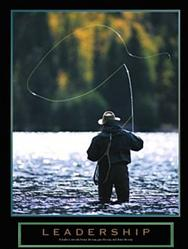Leadership Fly Fishing Poster 22x28