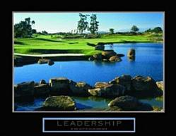 Leadership Golfing Poster 28x22