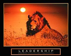 Leadership Lion Poster 28x22