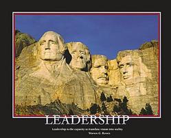 Leadership Mt. Rushmore 20x16
