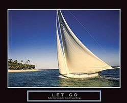 Let Go Sailboat Poster 28x22