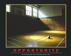 Opportunity Basketball Poster 28x22
