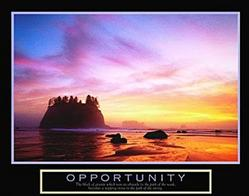 Opportunity Sunset Poster 28x22